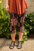 Crazy Kaleidoscope Geometric Printed Butter Soft Cropped Leggings front view.