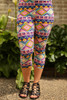 Easter Frenzy Printed Butter Soft Cropped Leggings front view.