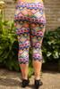 Easter Frenzy Printed Butter Soft Cropped Leggings back view.