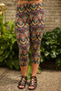Tribal Jewels Geometric Printed Butter Soft Cropped Leggings front view.