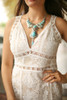 Dressed to the Nines Ivory Lace Sleeveless Bodycon Dress front detail view.