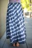 Tie Dye Love Flowing High Waist Maxi Skirt back view.
