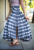 Tie Dye Love Flowing High Waist Maxi Skirt side view.