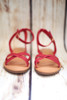Dillon Red Strappy Sandals