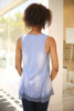 Whimsical in Waffle Knit Blue Sleeveless Top back view.