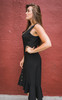 Can't Catch Me Now Black Button Down Midi Dress Side View