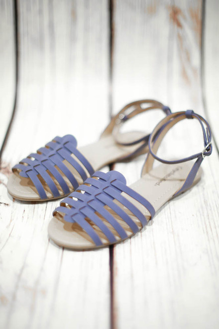Sander Light Blue Ankle Strap Sandal