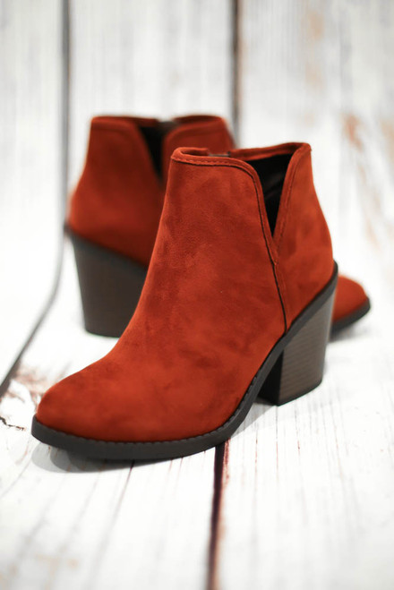 Ellie Dark Rust Bootie