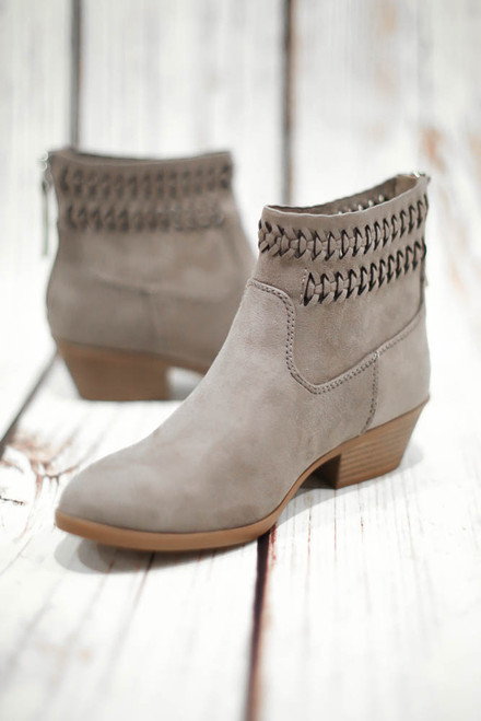 Peyton Grey Laser Cut Booties