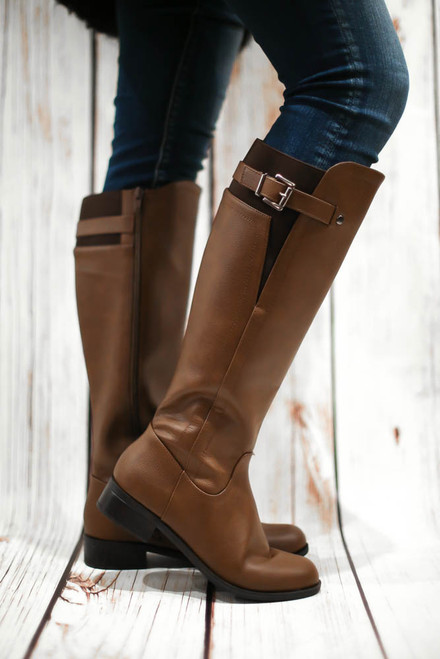 Jensen Camel Knee High Riding Boots