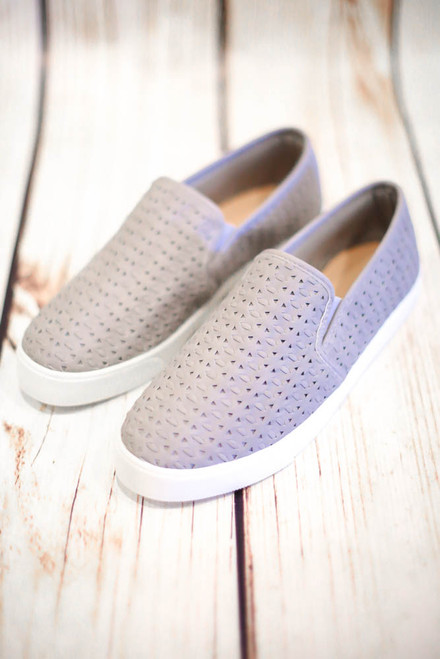 Avril Gray Slip On Boat Sneaker Shoes