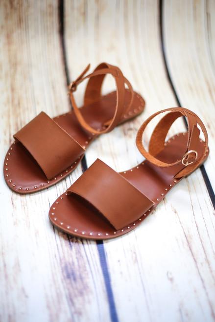 Justine Tan Strappy Sandals