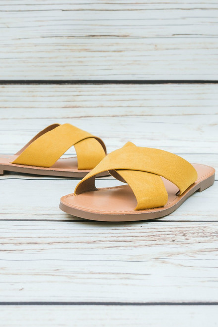 Abigail Mustard Yellow Slip On Flats