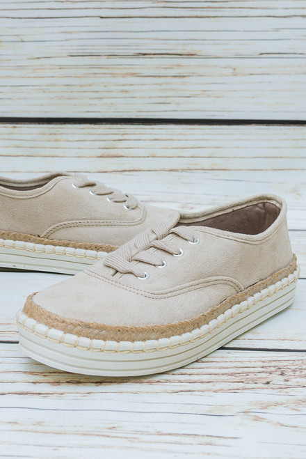 Stephanie Natural Nude Sneakers