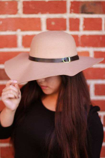 Tan Floppy Hat front view.