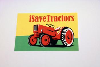 Weather-Proof iSaveTractors Sticker