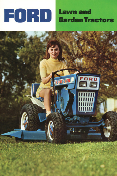 "Ford 120 Lawn and Garden Tractor Girl Poster 12""x18"""