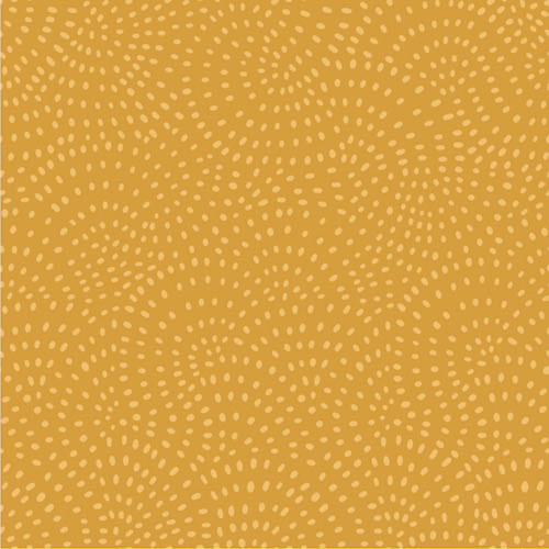 Twist Spot Cotton Fabric in Gold
