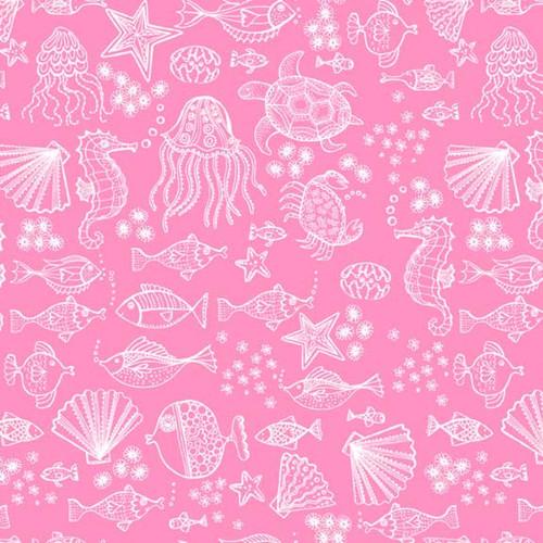 Merryn Mermaid Under the Sea in Pink