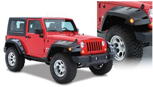 BUS10045-02, FRONT Jeep Max Coverage Pocket Style Fender Flare