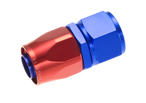 RHP1000-06-1, Hose End -06 straight female aluminum hose end - red&blue
