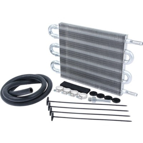 ALL26704, Fluid Cooler, 12 x 7-1/2 x 2 in, Tube Type, 3/8 in Hose Barb Inlet