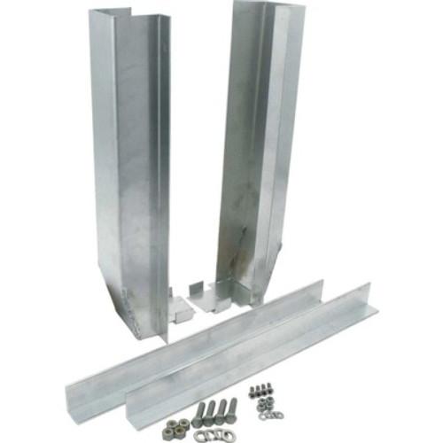 ALL30155, Radiator Bracket, Bottom / Side Channels, Aluminum, Natural, Unive