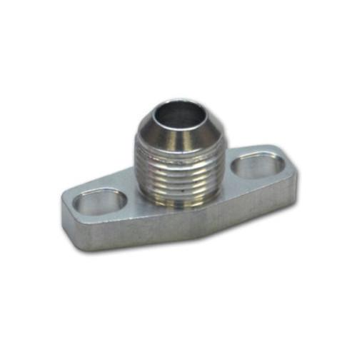 VIB2849, Turbo Oil Drain Flange, 10 AN Male, Aluminum, Natural, Hardware Inc