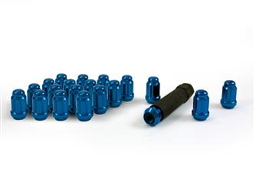 AME21123BL, 20 PACK SMALL DIA SPLINE LUGNUT 12MM X 1.25 BLUE