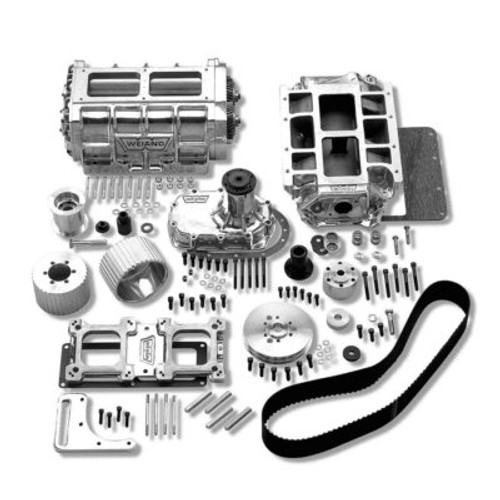 WEI7582P , Supercharger System, 6-71, Roots Style, Polished, Small Block Che