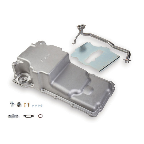 HLY302-2, HOLLEY,,Engine Oil Pan, Retrofit, Rear Sump, 5-3/4 qt,