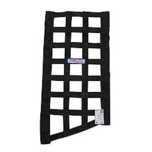 CCE4030, Window Net, Funny Car Window, SFI 27.1, 1 in Webbing, 10-3/4 x 22 x 19 in Trapezoid, Black, Each