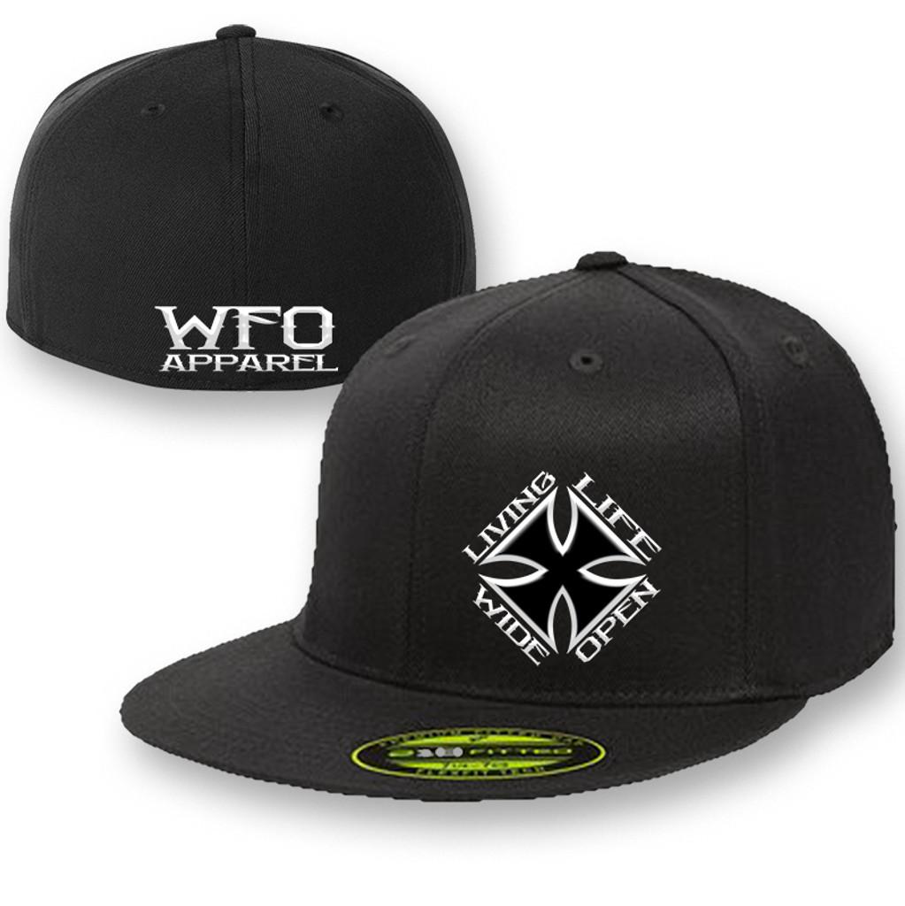 WFO FLAT BILL flex fit 210 black