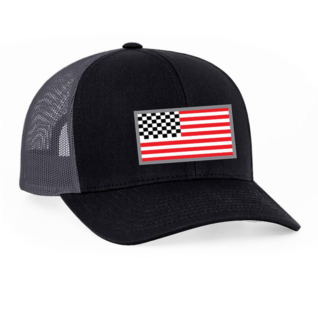 American Racing Flag snap back 104c Blk/Gray