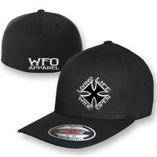 WFO CURVED BILL flex fit  Black