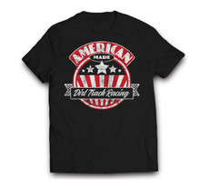 American Made Dirt Track Racing mens/tee black