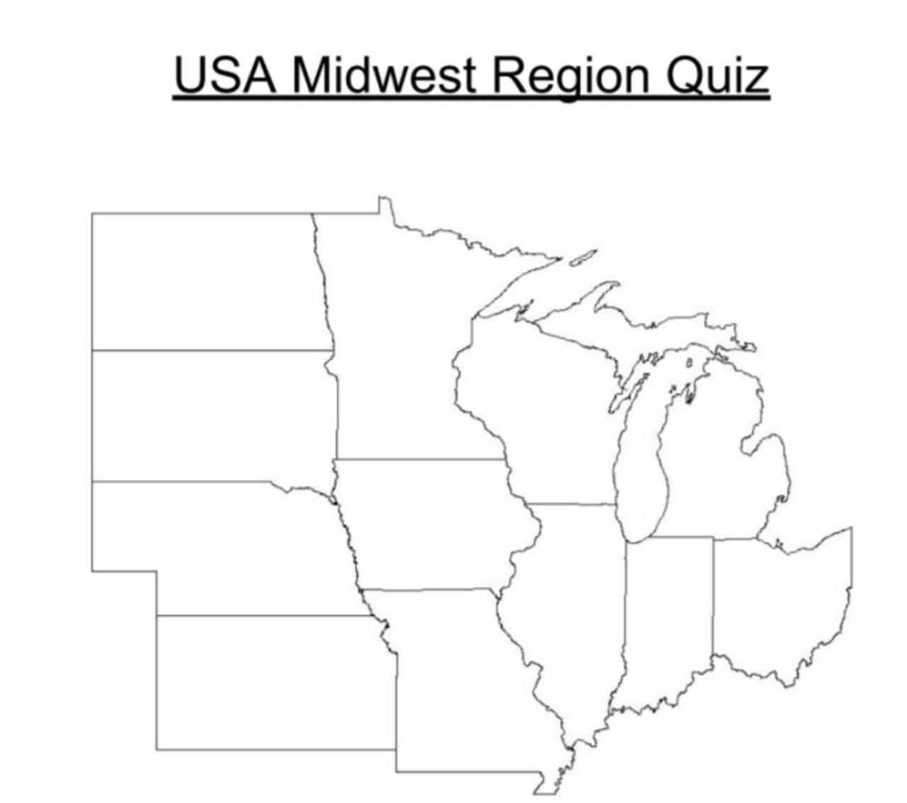 Us Midwest Region Map Game - Free Usa Maps