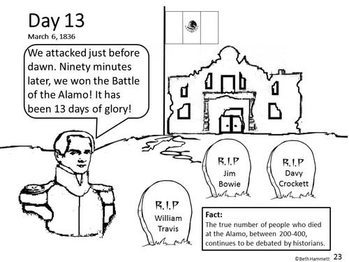 Texas history comic coloring book ·
