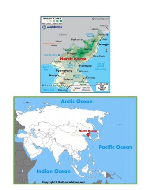 North and South Korea Map Scavenger Hunt Bundle Amped Up Learning
