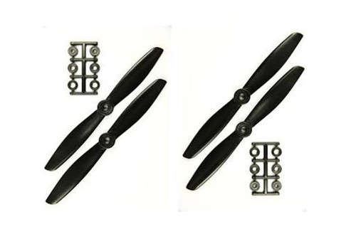 6 inch 6x4 HQ Props (2cw, 2ccw) Black *Out of stock