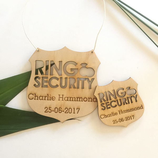 Ring Bearer - Page Boy - Ring Security Brooch