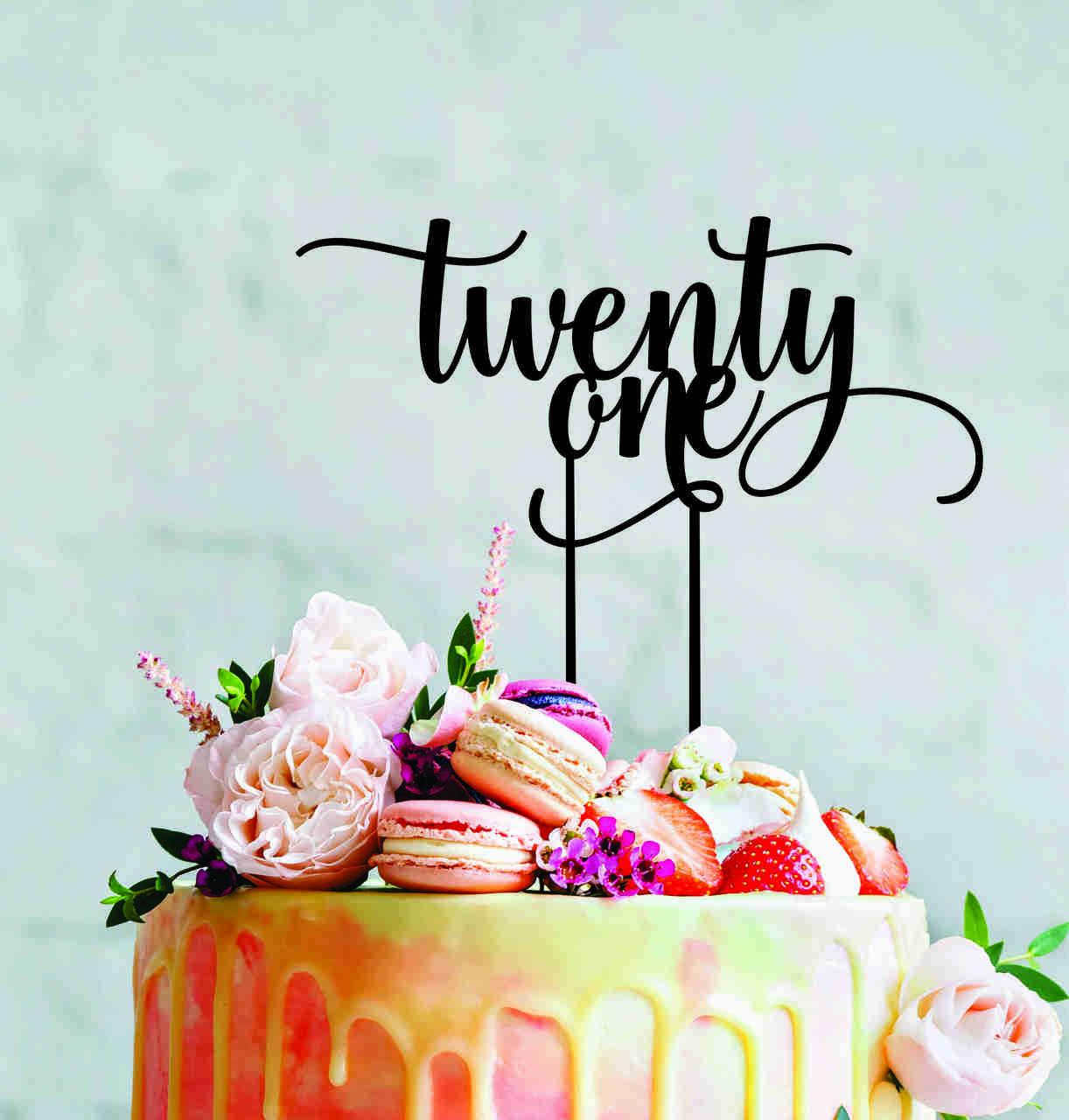 21 - Script Cake Topper