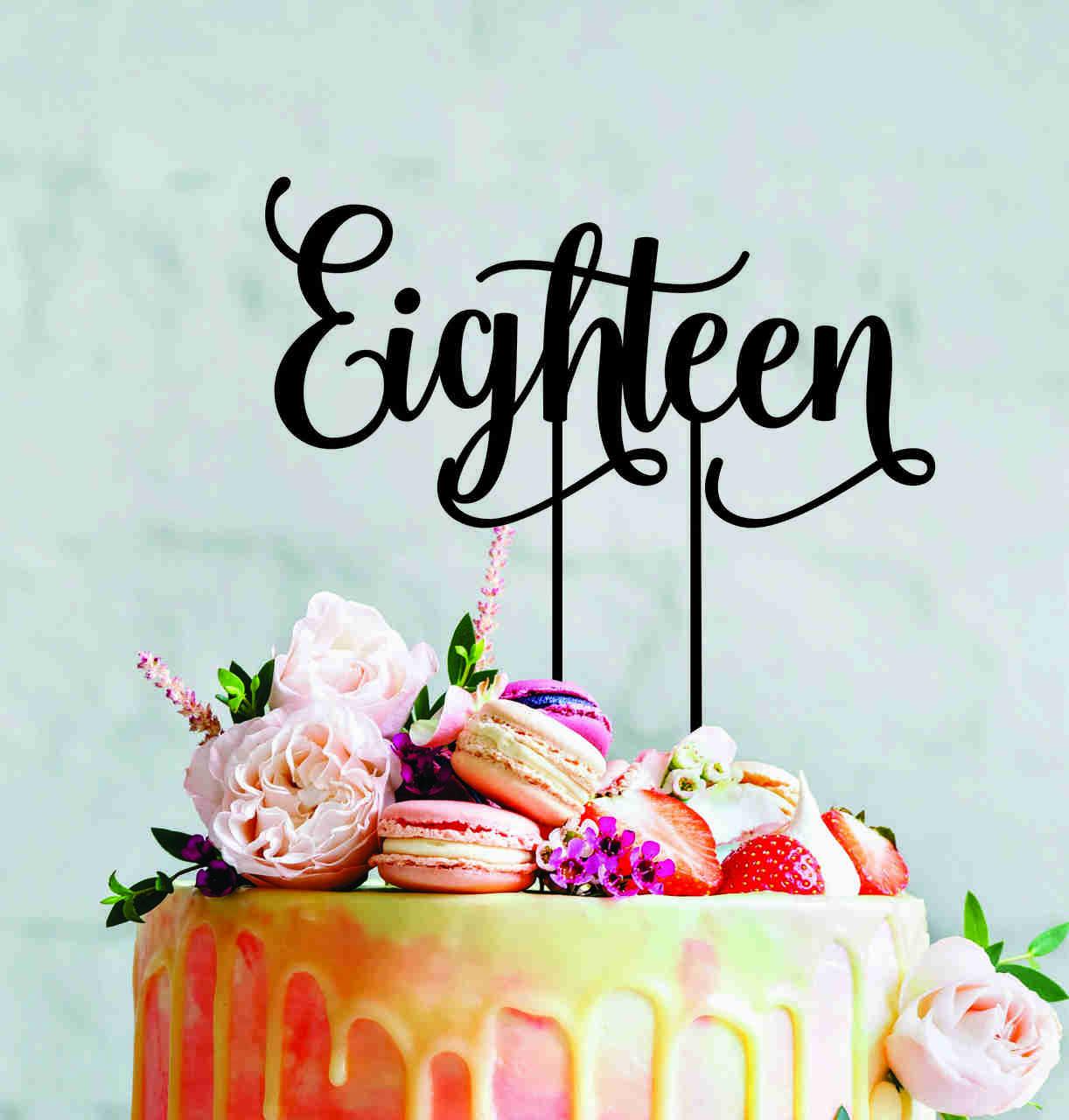 18 - Script Cake Topper