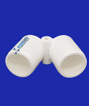 20mm PVC folding joiner to fit standard PVC plumbing pressure pipe.