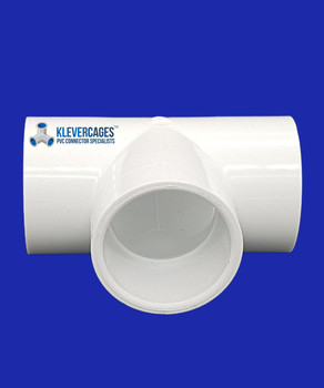 32mm PVC Tee connector to fit PVC plumbing pressure pipe from Klever Cages