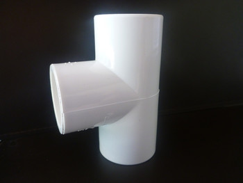 3 Way Tee PVC Connector suitable for frames and cages around the home and garden
