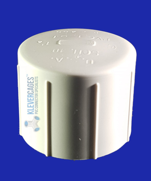 PVC cap for your next project to fit 50mm PVC plumbing pressure pipe.