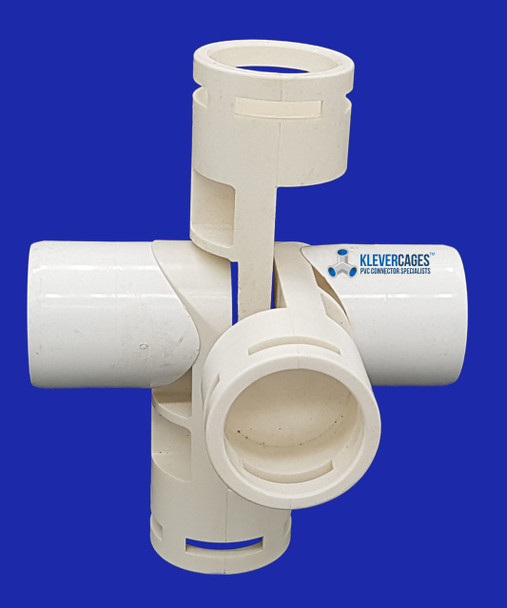 5 way PVC connector to fit 25mm PVC pipe from Klever Cages