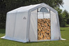 10 x 10 x 8 Peak Seasoning Shed - 5.5 oz. Clear PE Cover