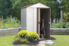 Newburgh Shed 5' x 4' Electro Galvanized Steel - Coffee / Eggshell